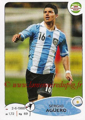 2014 - Panini Road to FIFA World Cup Brazil Stickers - N° 069 - Sergio AGUERO (Argentine)