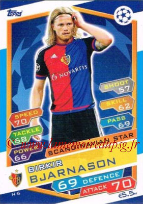 2016-17 - Topps UEFA Champions League Match Attax - N° N6 - Birkir BJARNASON (FC Bale) (Scandinavian Star) (Nordic Edition)
