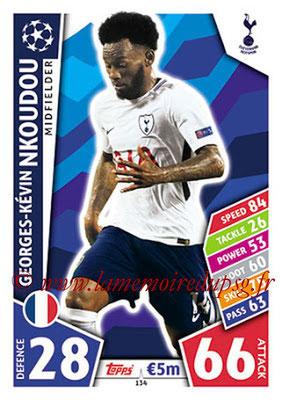 2017-18 - Topps UEFA Champions League Match Attax - N° 134 - Georges-Kévin NKOUDOU (Tottenham Hotspur)