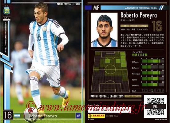 Panini Football League 2015 - PFL13 - N° 091 - Roberto PEREYRA (Argentine)