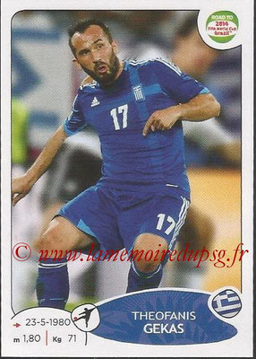 2014 - Panini Road to FIFA World Cup Brazil Stickers - N° 281 - Theofanis GEKAS (Grèce)
