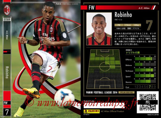 Panini Football League 2014 - PFL06 - N° 005 - ROBINHO (Milan AC) (Star)