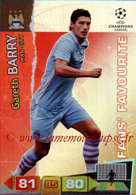2011-12 - Panini Champions League Cards - N° 310 - Gareth BARRY (Manchester City FC) (Fans' Favourite)