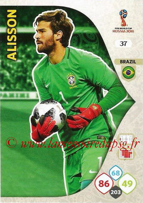 2018 - Panini FIFA World Cup Russia Adrenalyn XL - N° 037 - ALISSON (Brésil)
