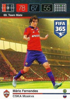 2015-16 - Panini Adrenalyn XL FIFA 365 - N° 069 - Mario FERNANDES (CSKA Moscou) (Team Mate)
