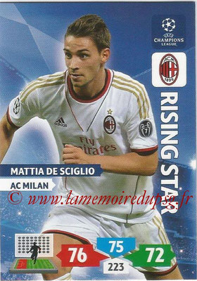 2013-14 - Adrenalyn XL champions League N° 184 - Mattia DE SCIGLIO (AC Milan) (Rising Star)