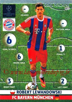 2014-15 - Adrenalyn XL champions League N° NE11 - Robert LEWANDOWSKI (Bayern Munich) (Goal machine)