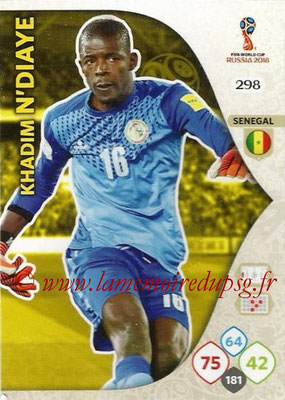 2018 - Panini FIFA World Cup Russia Adrenalyn XL - N° 298 - Khadim N'DIYAE (Senegal)