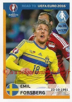 Panini Road to Euro 2016 Stickers - N° 343 - Emil FORSBERG (Suède)