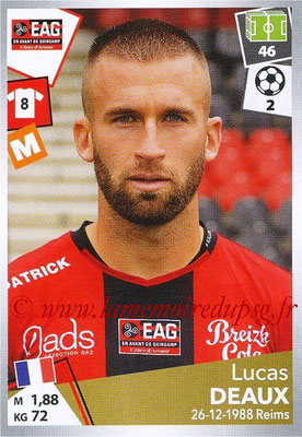 2017-18 - Panini Ligue 1 Stickers - N° 142 - Lucas DEAUX (Guingamp)