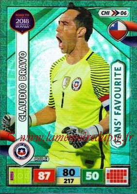 2018 - Panini Road to FIFA World Cup Russia Adrenalyn XL - N° CHI06 - Claudio BRAVO (Chili) (Fans' Favourite)