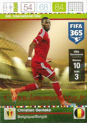2015-16 - Panini Adrenalyn XL FIFA 365 - N° 349 - Christian BENTEKE (Belgique) (International Star)