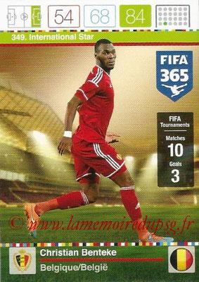 2015-16 - Panini Adrenalyn XL FIFA 365 - N° 349 - Christian BENTEKE (Belgique) (International Star)