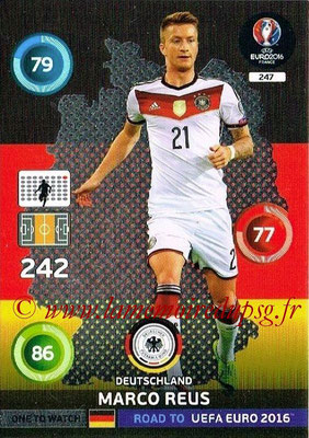 Panini Road to Euro 2016 Cards - N° 247 - Marco REUS (Allemagne) (One to Watch)