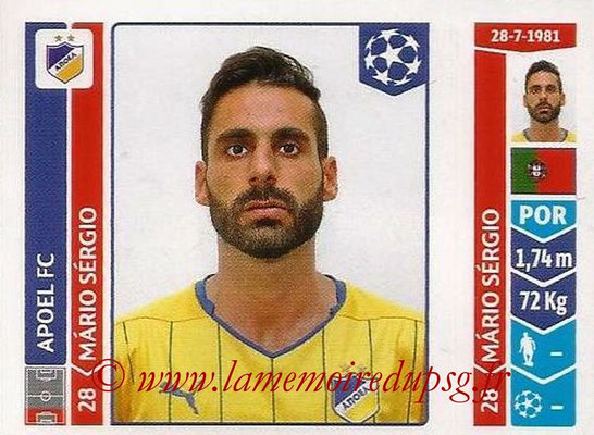 2014-15 - Panini Champions League N° 472 - Mario SERGIO (Apoel FC)