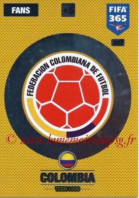 2016-17 - Panini Adrenalyn XL FIFA 365 - N° 347 - Logo Colombie (Club Badge)