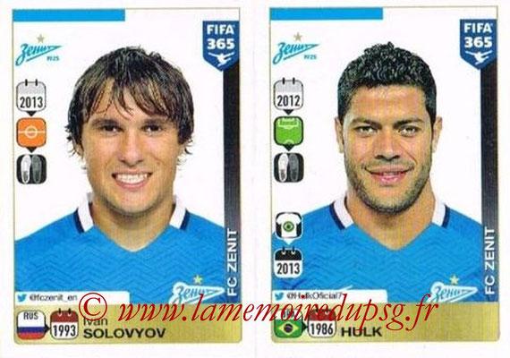 2015-16 - Panini FIFA 365 Stickers - N° 757-758 - Ivan SOLOVYOV + HULK (FC Zenit)