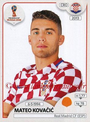 2018 - Panini FIFA World Cup Russia Stickers - N° 327 - Mateo KOVACIC (Croatie)