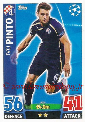 2015-16 - Topps UEFA Champions League Match Attax - N° 417 - Ivo PINTO (GNK Dinamo Zagreb)
