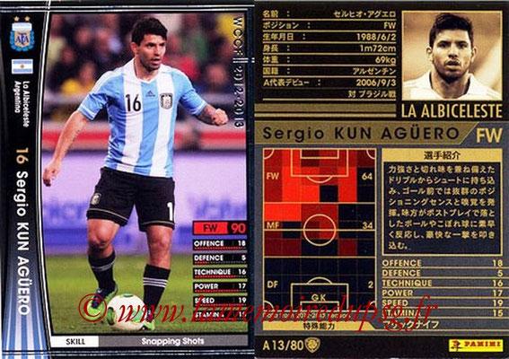2012-13 - WCCF - N° A13 - Sergio KUN AGUERO (Argentine)