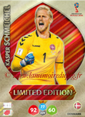 2018 - Panini FIFA World Cup Russia Adrenalyn XL - N° LE-KS - Kasper SCHMEICHEL (Danemark) (Limited Edition)