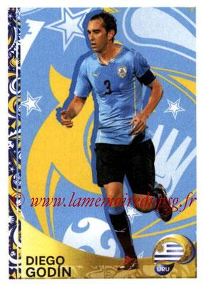 Panini Copa America Centenario USA 2016 Stickers - N° 428 - Diego GODIN (Uruguay) (En action)