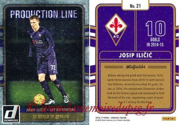 2016 - Panini Donruss Cards - N° PL21 - Josip ILICIC (ACF Fiorentina) (Production Line)