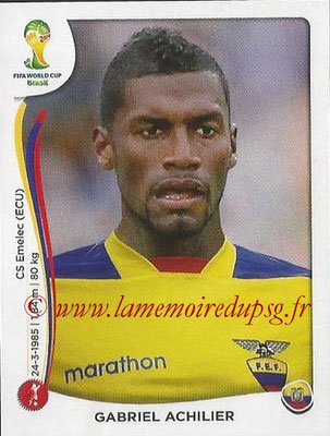 2014 - Panini FIFA World Cup Brazil Stickers - N° 361 - Gabriel ACHILIER (Equateur)