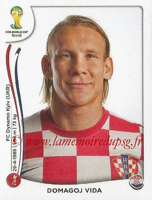 2014 - Panini FIFA World Cup Brazil Stickers - N° 058 - Domagoj VIDA (Croatie)