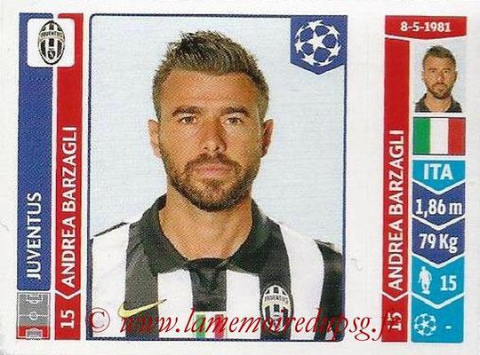2014-15 - Panini Champions League N° 057 - Andrea BARZAGLI (Juventus Turin)