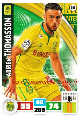 2016-17 - Panini Adrenalyn XL Ligue 1 - N° 261 - Adrien THOMASSON (Nantes)