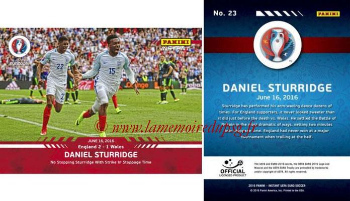 Panini Instant Euro 2016 - N° 023 - Daniel STURRIDGE