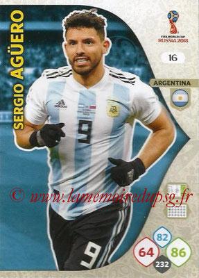 2018 - Panini FIFA World Cup Russia Adrenalyn XL - N° 016 - Sergio AGUERO (Argentine)
