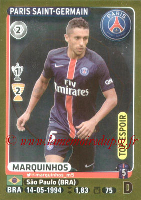 2015-16 - Panini Ligue 1 Stickers - N° 355 - MARQUINHOS (Paris Saint-Germain) (Top Espoir)
