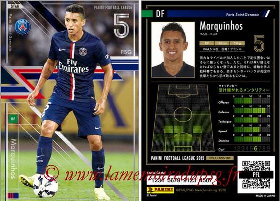 Panini Football League 2015 - PFL10 - N° 055 - MARQUINHOS (Paris Saint-Germain) (Star)