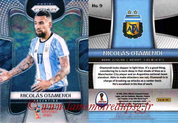 2018 - Panini Prizm FIFA World Cup Russia - N° 009 - Nicolas OTAMENDI (Argentine)