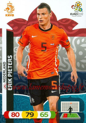 Panini Euro 2012 Cards Adrenalyn XL - N° 137 - erik PIETERS (Pays-Bas)