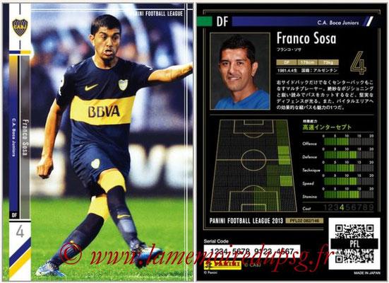 Panini Football League 2013 - PFL02 - N° 082 - Franco Sosa ( C.A. Boca Juniors )