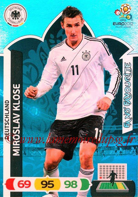 Panini Euro 2012 Cards Adrenalyn XL - N° 246 - Miroslav KLOSE (Allemagne) (Fans' Favourite)