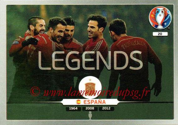 Panini Euro 2016 Cards - N° 020 - Equipe Espagne (Legends)