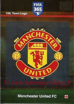 2015-16 - Panini Adrenalyn XL FIFA 365 - N° 100 - Ecusson Manchester United FC (Team Logo)