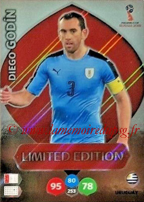 2018 - Panini FIFA World Cup Russia Adrenalyn XL - N° LE-DG - Diego GODIN (Uruguay) (Limited Edition)