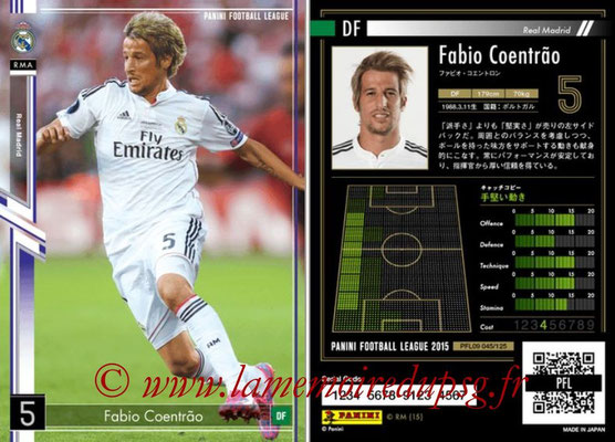 Panini Football League 2015 - PFL09 - N° 045 - Fabio COENTRAO (Real Madrid)
