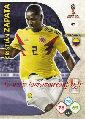 2018 - Panini FIFA World Cup Russia Adrenalyn XL - N° 057 - Cristian ZAPATA (Colombie)