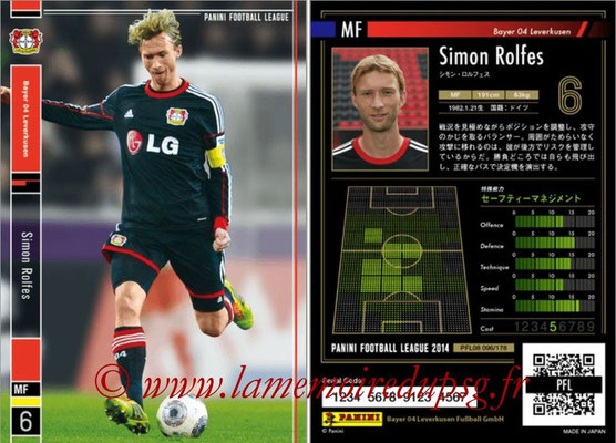Panini Football League 2014 - PFL08 - N° 096 - Simon ROLFES (Bayer Leverkusen)