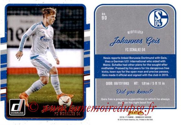 2016 - Panini Donruss Cards - N° 090 - Johannes GEIS (FC Schalke 04)