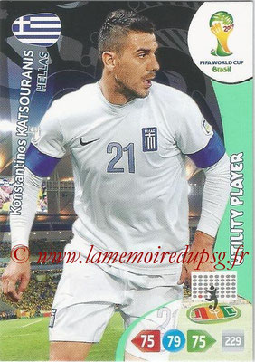 2014 - Panini FIFA World Cup Brazil Adrenalyn XL - N° 182 - Kontantinos MATSOURANIS (Grèce) (Utility Player)