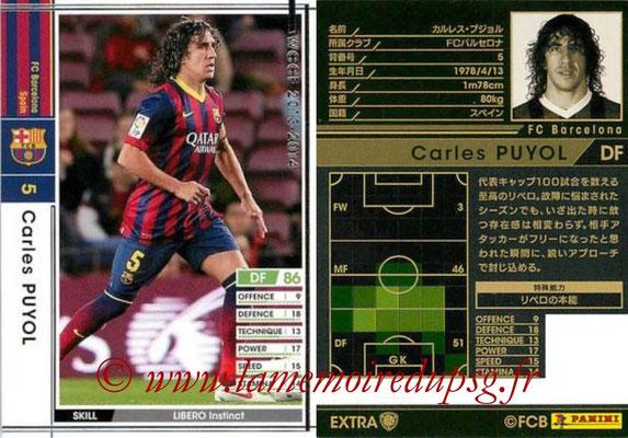 2013-14 - WCCF - N° EXT - Carlos PUYOL (FC Barcelone) (Extra)