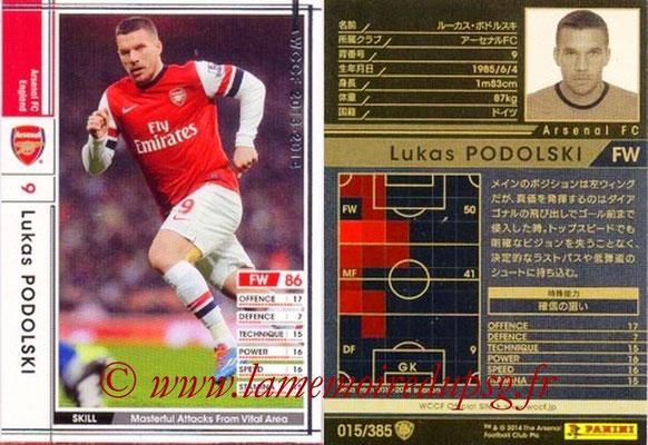 2013-14 - WCCF - N° 015 - Lukas PODOLSKI (Arsenal FC)