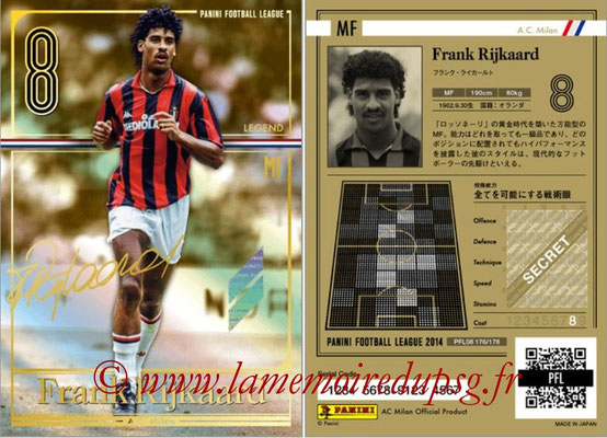 Panini Football League 2014 - PFL08 - N° 176 - Frank RIJKAARD (Milan AC) (Legend)